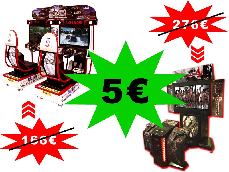 Taxe sur les jeux d'arcade à 5€ / Arcade game tax = €5 Taxarcade