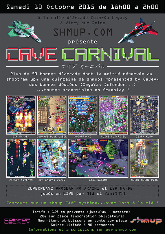 Cave Carnival  (10/10/2015 - Coin-op Legacy, France)   Cavecfly